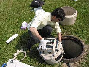 Sanitary system sampling for a plant's annual discharge assessment